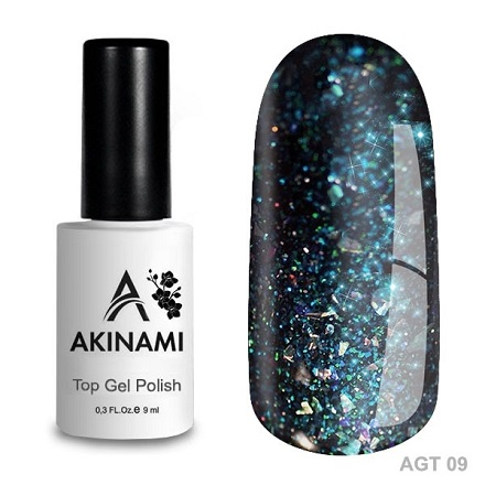 Akinami Glitter Top Gel 09