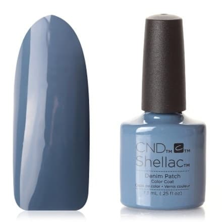 CND Shellac цвет Denim Patch 7, 3 мл Дымчато-синий